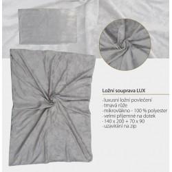 Ložní souprava LUX - Luxusní ložní povlečení - tmavá růže, velice příjemné na dotek - mikrovlákno s výbornými…