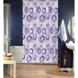 Koupelnový závěs 180x200 cm 100% Polyester - vzor 4954 fialový