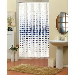 Koupelnový závěs 180x200 cm 100% Polyester - vzor 4961 modrý