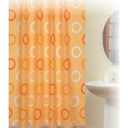 Koupelnový závěs 180x200 cm 100% Polyester - 5033 oranžová