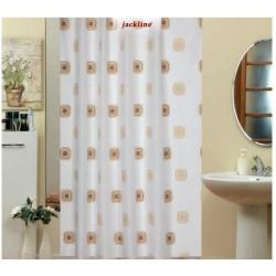 Koupelnový závěs 180x200 cm 100% Polyester - vzor 6969 hnědý