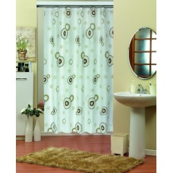 Koupelnový závěs 180x200 cm 100% Polyester - vzor 7976 hnědý