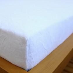 Prostěradlo mikrovlákno 90x200 cm - bílé