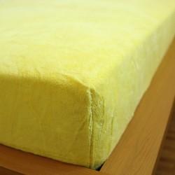 Prostěradlo mikrovlákno 90x200 cm - žluté