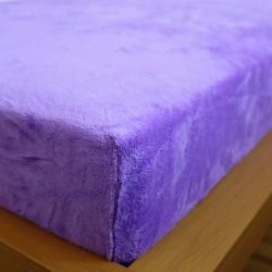 Prostěradlo mikrovlákno 180x200 cm - fialové