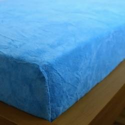 Prostěradlo mikrovlákno 180x200 cm - modré