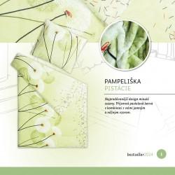 Ložní povlečení mikroflanel - Zelená pampeliška