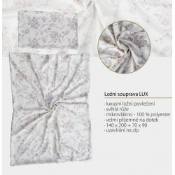 Luxusní ložní souprava - broušené mikrovlákno - Luxusní ložní povlečení - světlá růže, velice příjemné na dotek -…