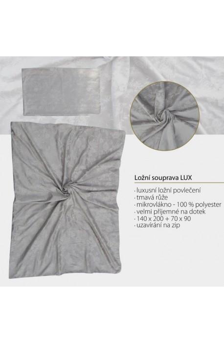 Luxusní ložní souprava - broušené mikrovlákno - Luxusní ložní povlečení - tmavá růže, velice příjemné na dotek -…