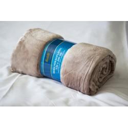 Deka mikroflanel 150x200 cm - deka 150x200 cm - béžová, mikroflanel - 100% polyester, příjemná na dotek, hřejivá
