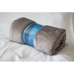 Deka mikroflanel 150x200 cm - deka 150x200 cm šedo-fialová, mikroflanel - 100% polyester, příjemná na dotek, hřejivá
