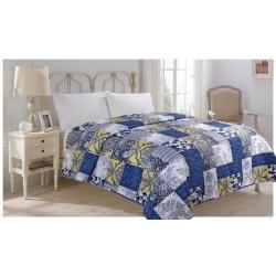 Přehoz přes postel 220x240 cm - Přehoz přes postel dvoulůžko vzor Modrotisk