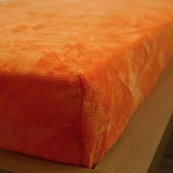 Prostěradlo mikrovlákno 180x200 cm - oranžové