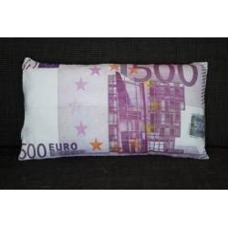 """Polštářek """"bankovka"""" - vzor 500 EUR"""
