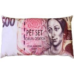 """Polštářek """"bankovka"""" - vzor 500 Kč"""
