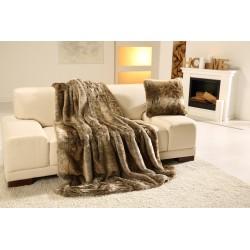 Exkluzivní deka 150x200 cm - vzor imitace medvěd hnědý