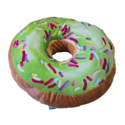 Polštářek Donut - vzor zelený