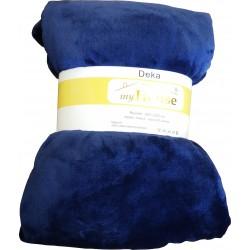 Deka mikrovlákno 200x220 cm - tmavě modrá