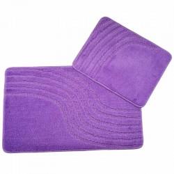 Koupelnová předložka 2ks - fialová