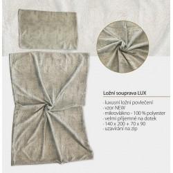 Luxusní ložní souprava - broušené mikrovlákno - vzor NEW
