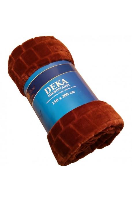 Deka mikrofl.150x200 dovoz - kakaová