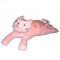 Polštářek kočka dlouhá 4D - kočka dlouhá růžová