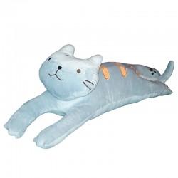 Polštářek kočka dlouhá 4D - kočka dlouhá šedá